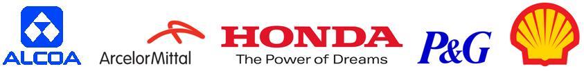 Alcoa, Arcelor Mittal, Honda, P&G, and Shell